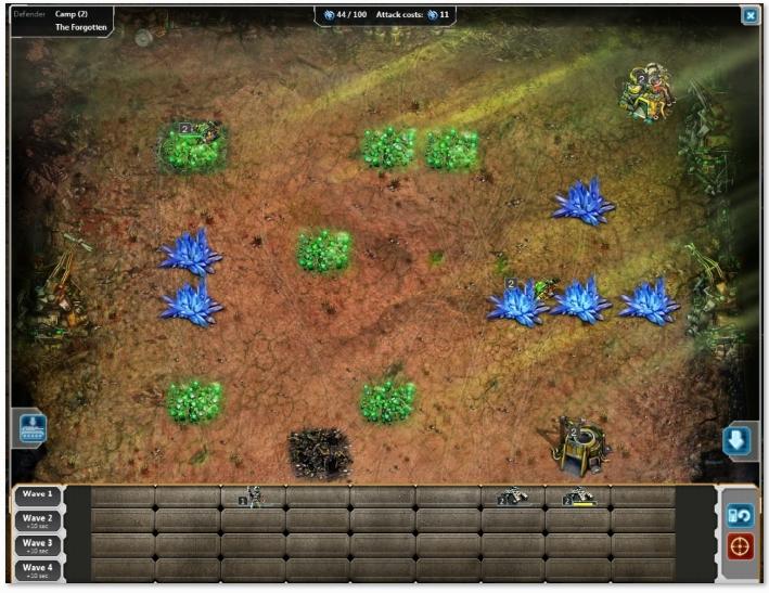 Planejando o caminho das tropas