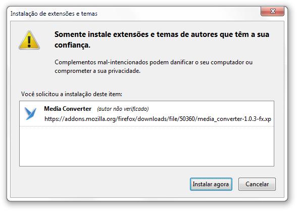 Media Converter para Firefox - Imagem 1 do software