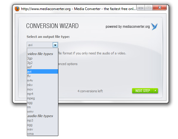 Media Converter para Firefox - Imagem 3 do software