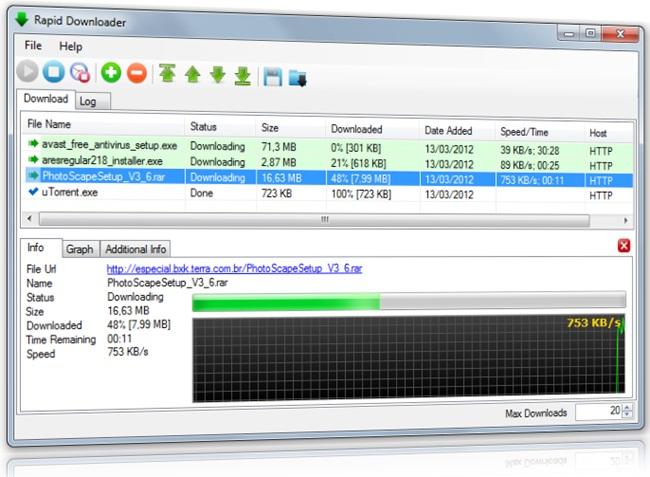 Rapid Downloader - Imagem 1 do software