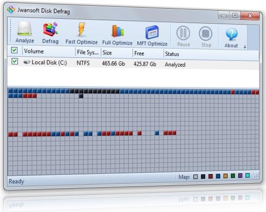 Jwansoft Disk Defragment - Imagem 1 do software