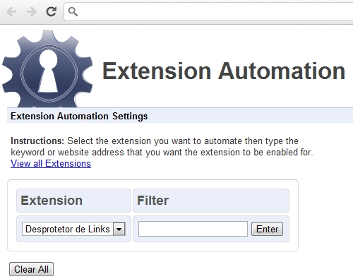 Extension Automation.