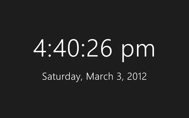 Windows 8 Clock.