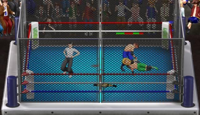 Imagem do ringue de luta do PowerSlam