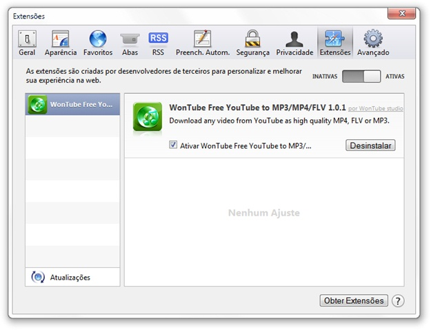 WonTube Free YouTube to MP3/MP4/FLV para Safari - Imagem 1 do software