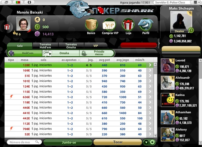 PokerShark - Imagem 2 do software