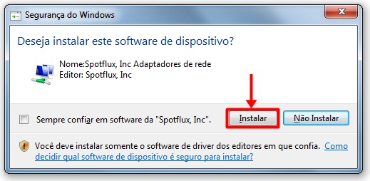 Spotflux - Imagem 2 do software
