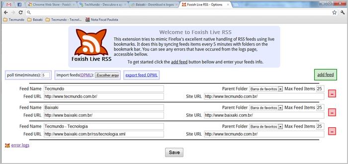 Foxish Live RSS - Imagem 1 do software