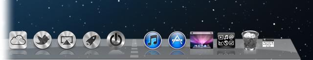 O Dock é exatamente igual ao do Mac