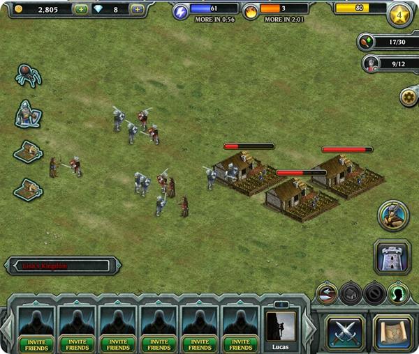 Kingdom Age - atacando os adversários
