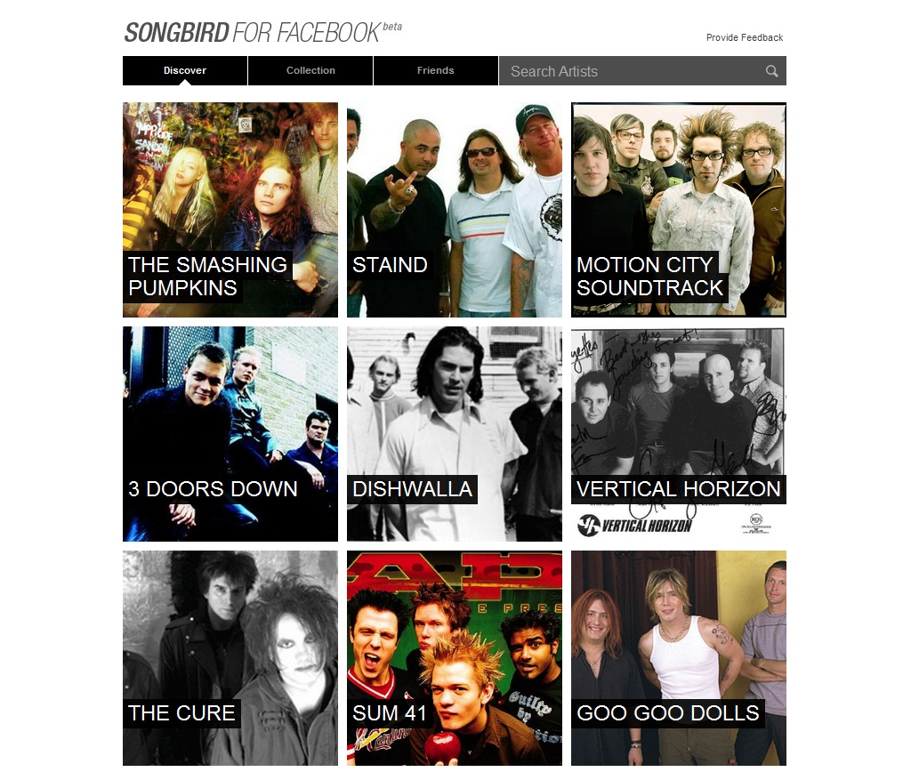 Songbird for Facebook - Imagem 1 do software