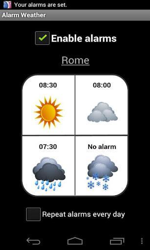 Alarm Weather - Imagem 1 do software