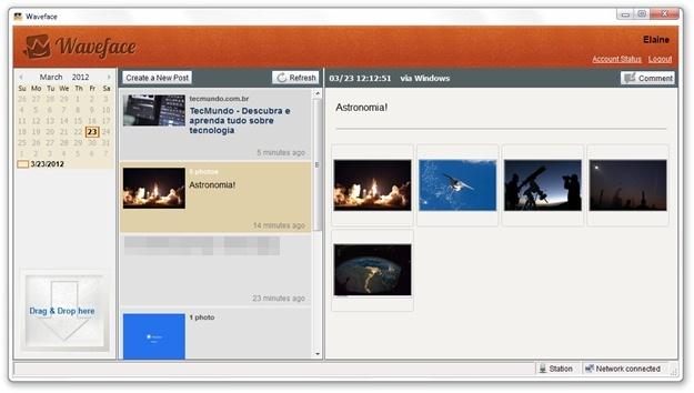 Waveface - Imagem 2 do software