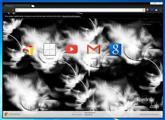 Aparência do tema para Google Chrome