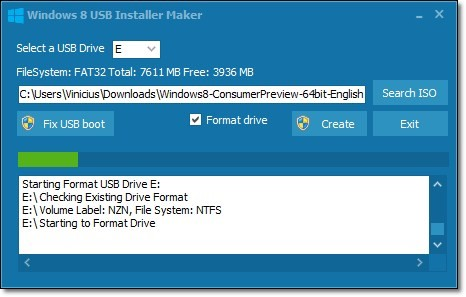 Windows 8 USB Installer Maker.