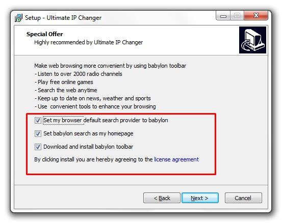 Ultimate IP Changer - Imagem 2 do software