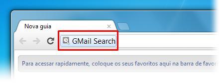 Acesse a busca do GMail na barra de endereços