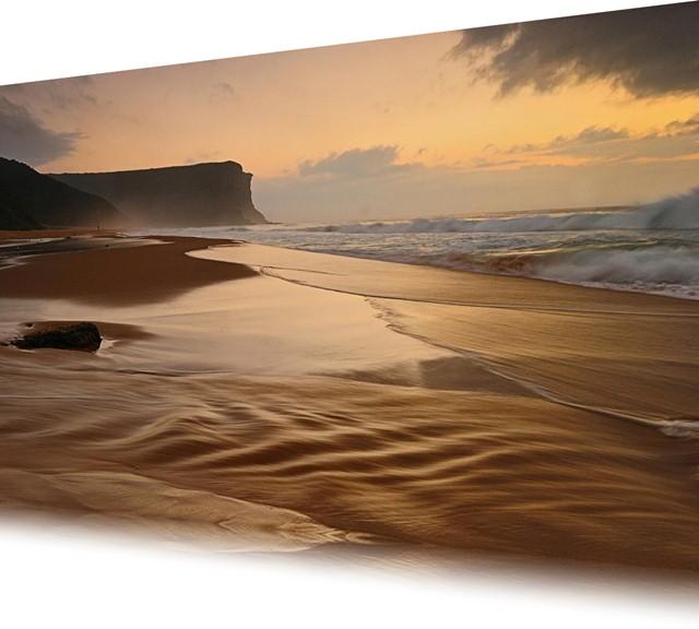 Paisagem de uma praia da costa da Austrália