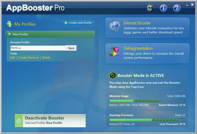 AppBooster Pro - Imagem 1 do software