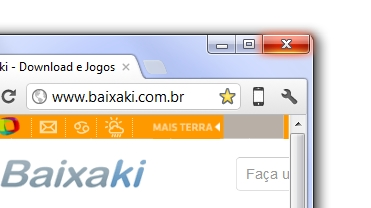 Botão de iPhone no Chrome