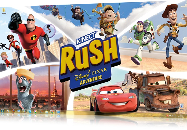 Kinect Rush: A Disney Pixar Adventure theme - Imagem 1 do software