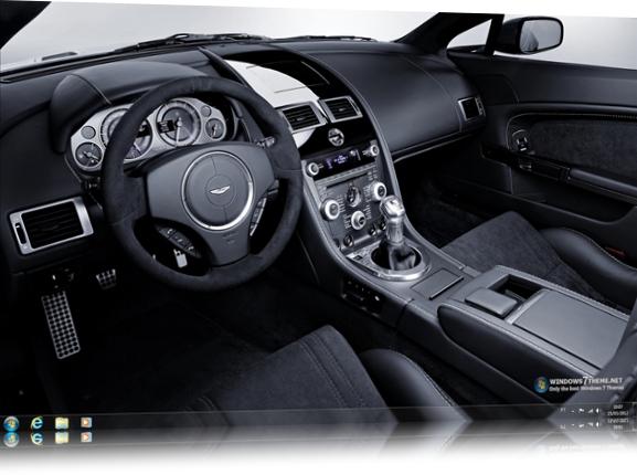 Aston Martin V8 Vantage Windows 7 Theme.