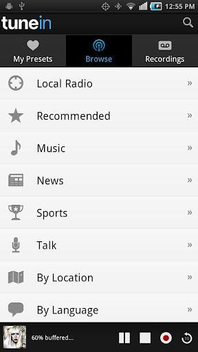 TuneIn Radio Pro - Imagem 1 do software