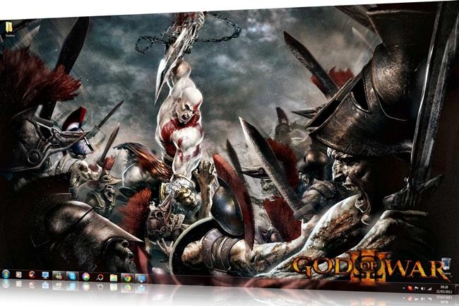 God of War Windows 7 Theme - Imagem 1 do software