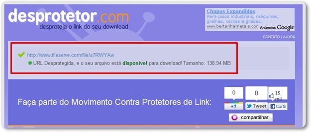 Desprotetor.com para Chrome.