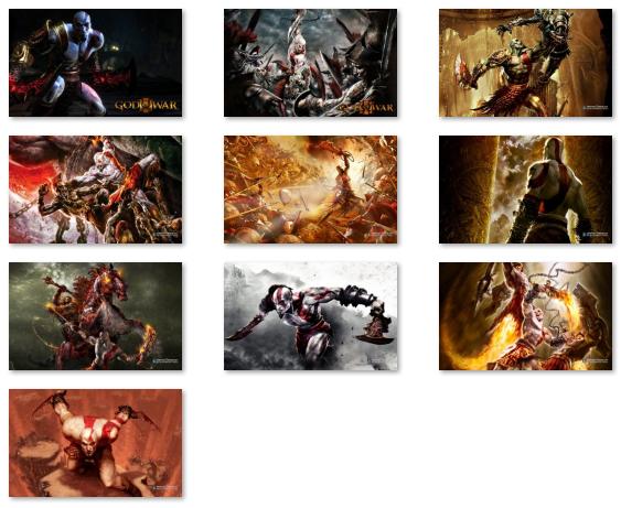 God of War Windows 7 Theme - Imagem 2 do software