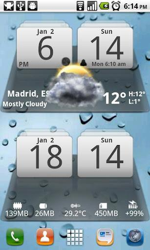 MIUI Digital Weather Clock - Imagem 1 do software