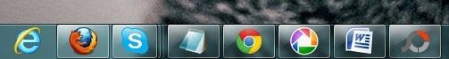 Visualizando as barras de ferramentas nos dois monitores