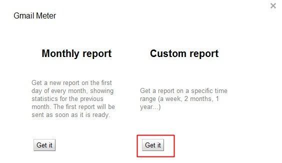 Relatório personalizado
