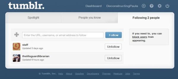 Lista de quem você está seguindo