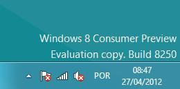 No detalhe: a marca d água do Windows