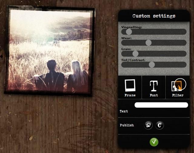 Edite a fotografia com filtros e efeitos