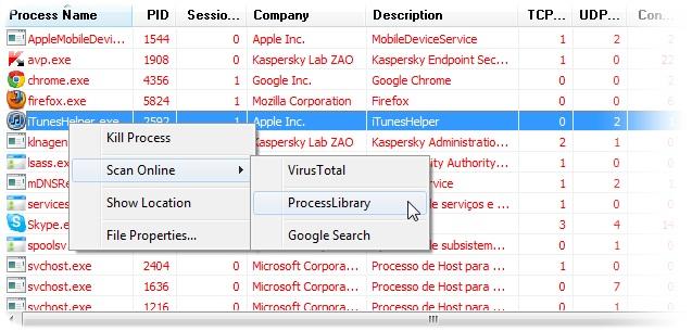 ProcNetMonitor - Imagem 2 do software