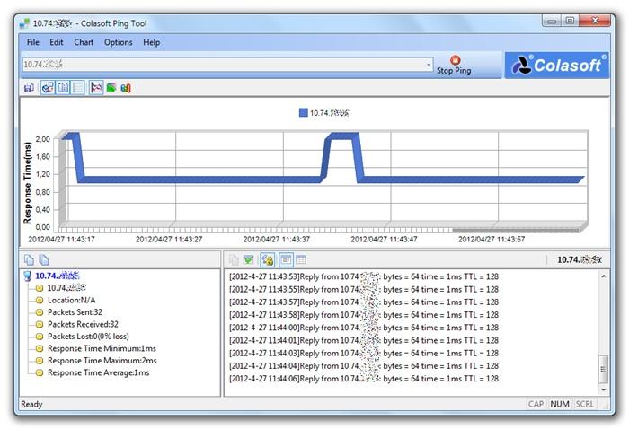 Colasoft Ping Tool - Imagem 1 do software