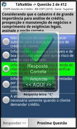 TaNaMao Concursos Simulados - Imagem 2 do software