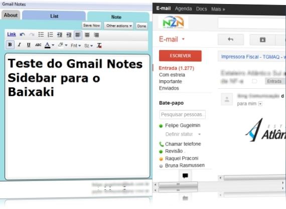 Gmail Notes Sidebar - Imagem 1 do software