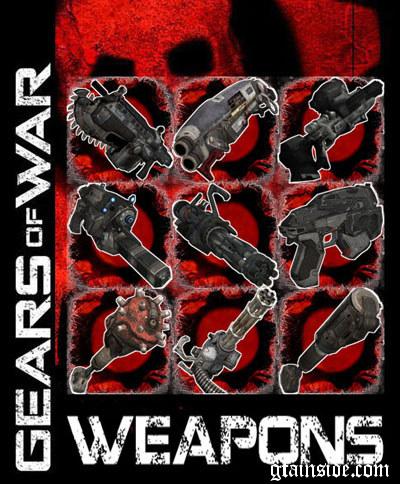 GTA San Andreas: Gears of War Weapons