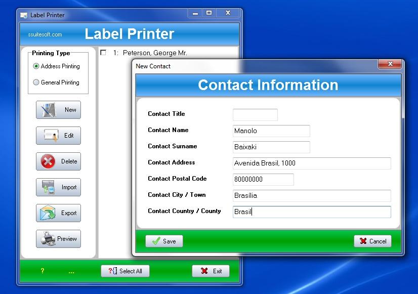 Label Printer - Imagem 1 do software