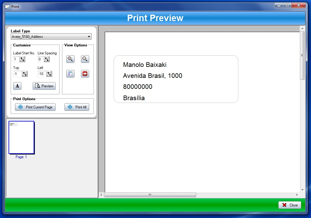 Label Printer - Imagem 2 do software