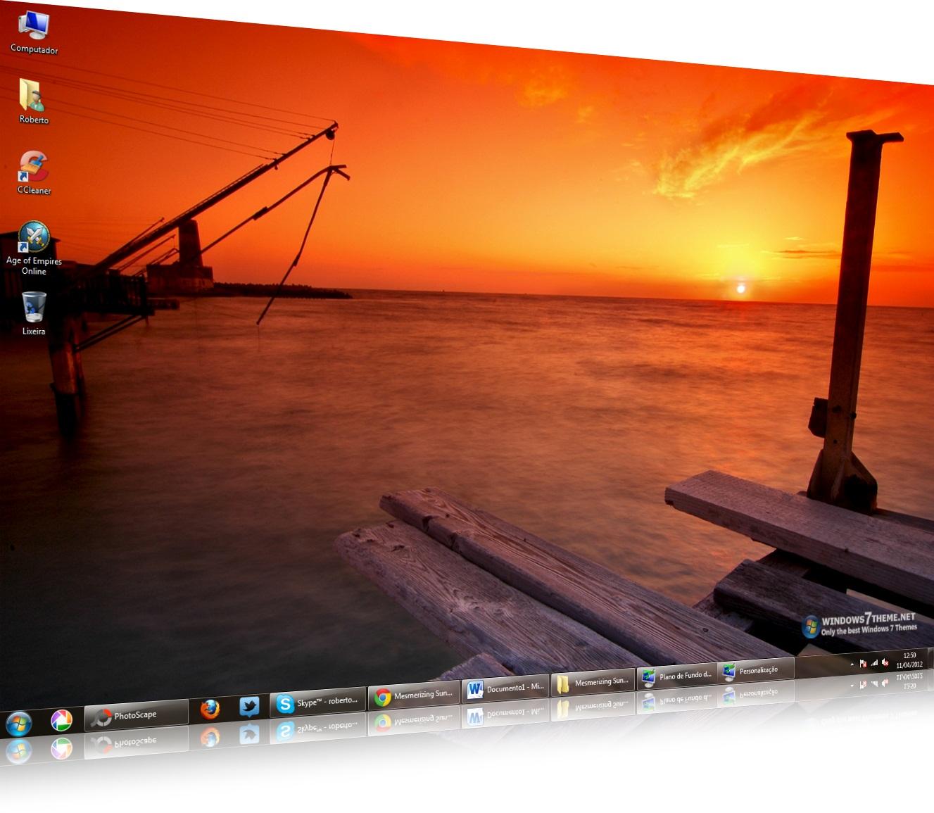 Mesmerizing Sunsets Windows 7 Theme - Imagem 1 do software