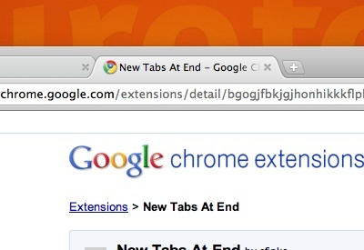 New Tabs At End - Imagem 1 do software