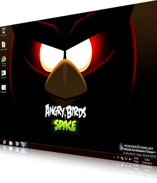 Angry Birds Space Windows 8 Theme - Imagem 1 do software