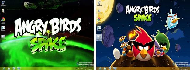 Angry Birds Space Windows 8 Theme - Imagem 2 do software