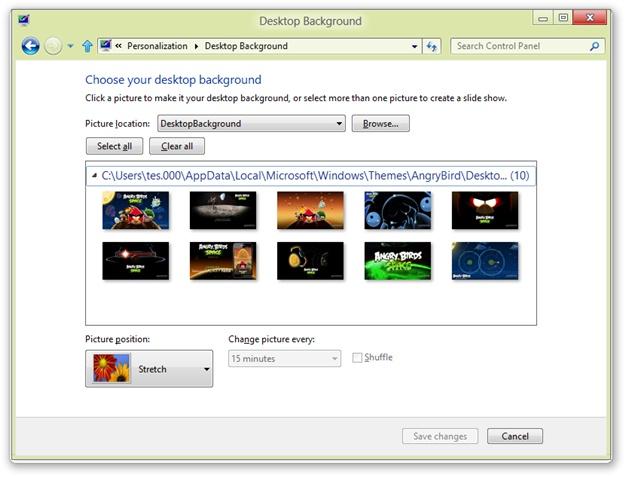 Angry Birds Space Windows 8 Theme - Imagem 3 do software