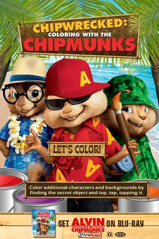Chipwrecked: Coloring with the Chipmunks - Imagem 1 do software