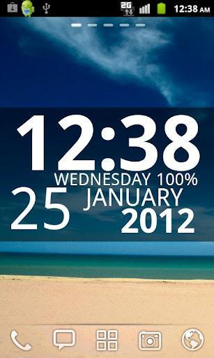 Digi Clock Widget by Zee - Imagem 2 do software